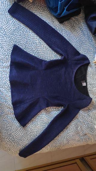Jersey Azul rayas negras