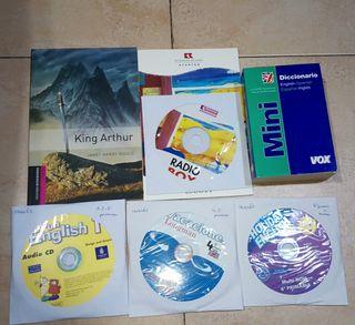 Libros de inglés + diccionario + cds