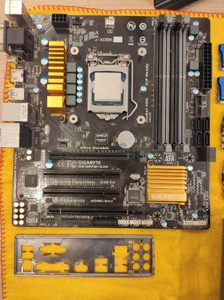 i5 4690k + 16gb RAM + placa base + disipador