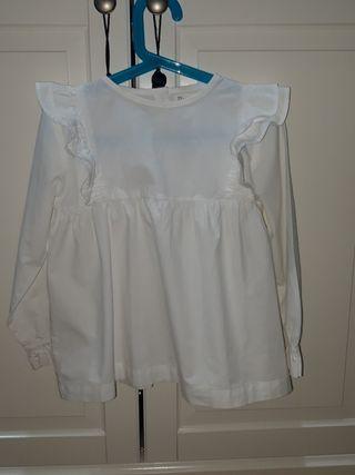 camisa blanca de niña talla 6/7 años