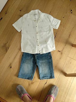 Conjunto niño camisa Zara y shorts vaqueros 10
