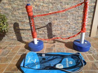 Red y soportes mini tenis