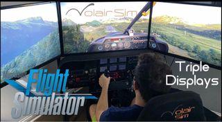 Flight Simulator Expansor triple/doble Pantalla