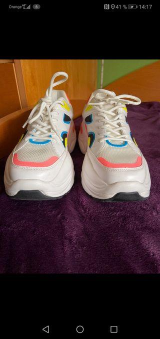 Zapatillas blancas Zara