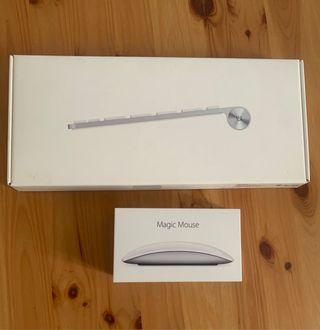 Apple Magic Mouse 2 y wireless Keyboard