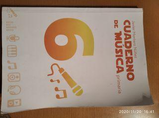 Cuaderno de música 6 grado