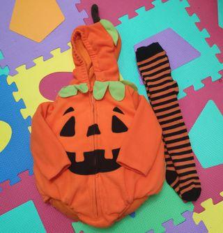 Disfraz Calabaza Halloween 12/18 meses