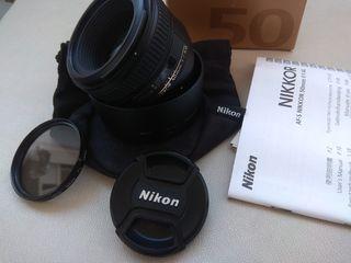 Objetivo Nikon AF-S NIKKOR 50mm f/1.4G ++ luminoso
