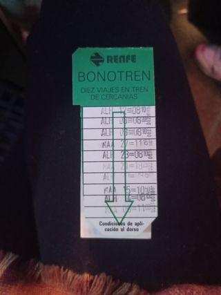 bono tren Renfe coleccionista 1984