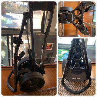 Carro palos de golf 3 ruedas, resistente y nuevo