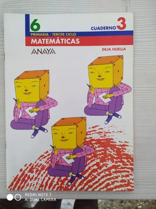 LIBRO DE TEXTO MATEMÁTICAS 6º PRIMARIA- cuaderno 3