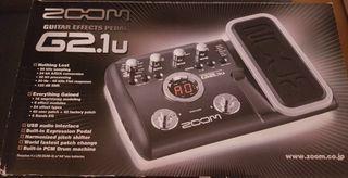 Zoom G2.1u pedal nuevo para efectos guitarra