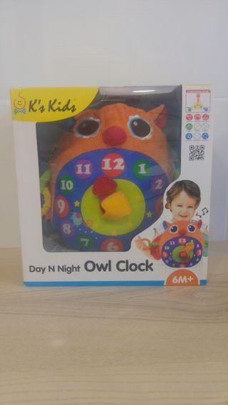 Juguete educativo peluche reloj