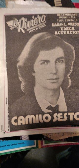 RECORTES PRENSA CAMILO SESTO AÑOS 70