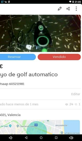 Hoyo de golf devolución pelota automatica REBAJADO