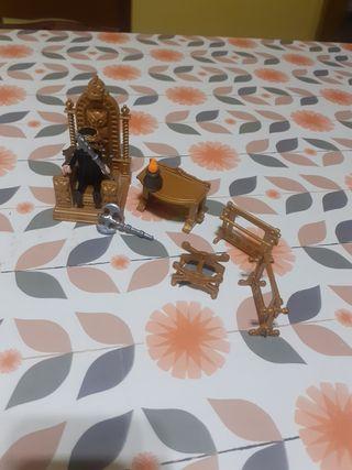 trono dorado playmobil