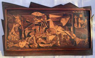 Cuadro Guernica en cuero
