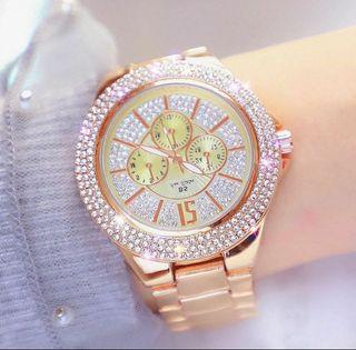 Reloj Dial elegant oro-rosa.