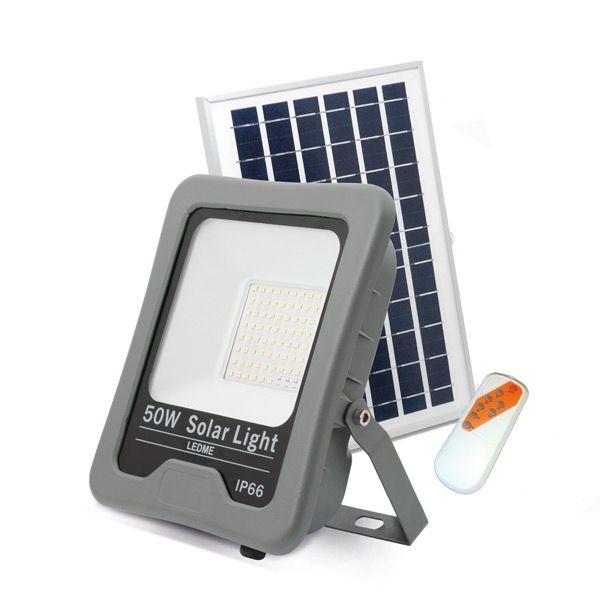 Proyector 50W solar con placa no gaste luz