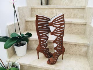 Botas sandalias piel marrón GUESS NUEVAS!!!