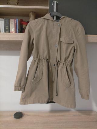 chaqueta de entretiempo beige-marrón claro
