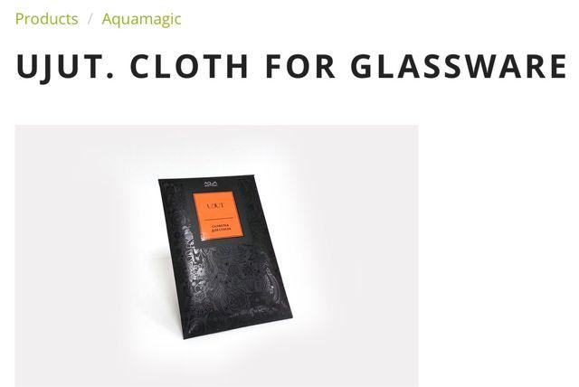 UJUT. CLOTH FOR GLASSWARE