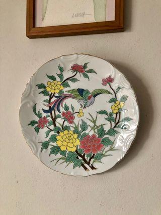 Plato porcelana oriental