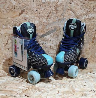 nuevos a estrenar patines 4 ruedas unisex quad
