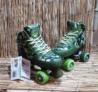 nuevos a estrenar patines unisex 4 ruedas quad