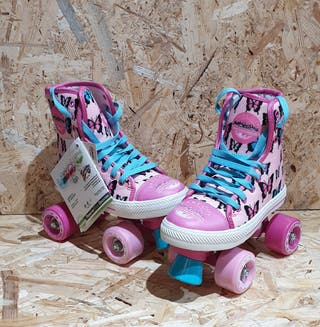 nuevos a estrenar patines 4 ruedas niña quad