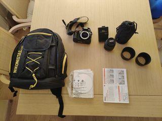Nikon d-3100 más mochila y accesorios