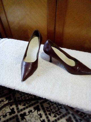 zapatos de salón marrones n 37