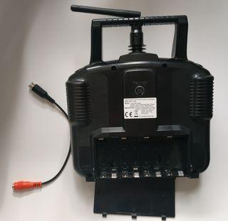 """Emisora """"Flysky"""" 4c, 2.4ghz y cable simulador"""