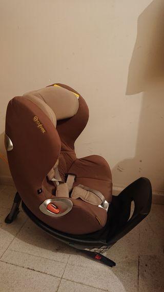 silla coche bebé contramarcha y giratoria e isofix