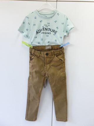 camiseta y pantalón 5años