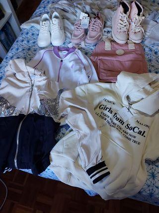 Zapatillas y ropa Zara