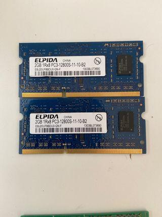 Memoria ram 2gb X 2 Elpida MacBookpro