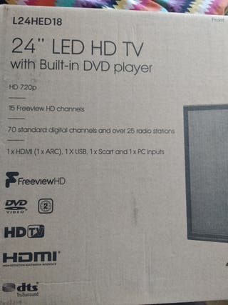 """24"""" LED HD TV with built-in DVD player"""