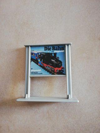 cartel estacion de tren playmobil