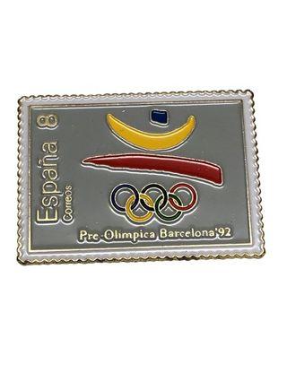 Pin en forma de sello, Barcelona'92