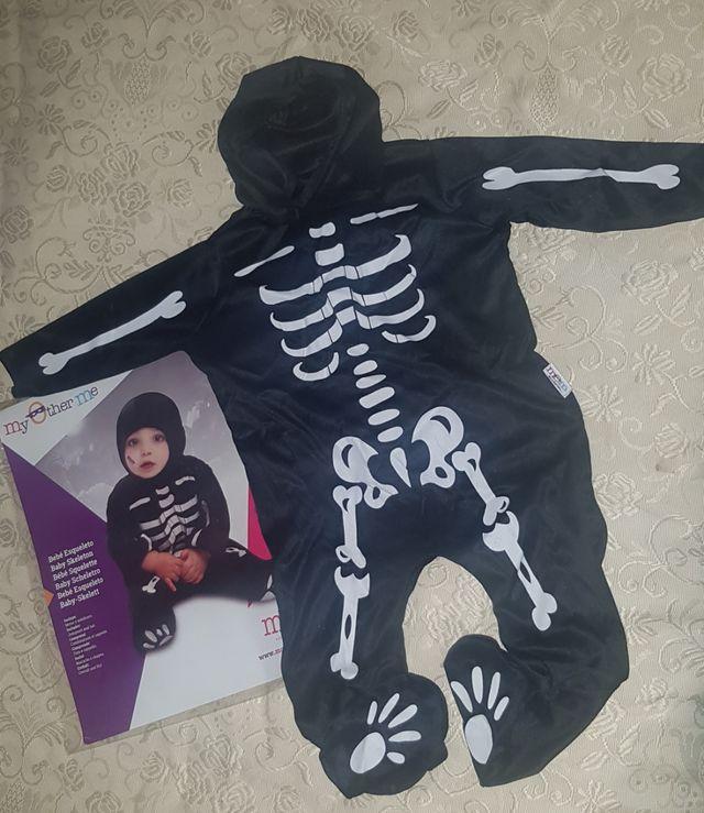 disfraz Halloween bebé esqueleto