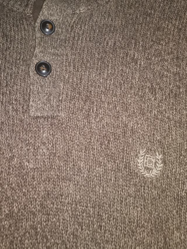 Chaps Small Logo Brown Sweater