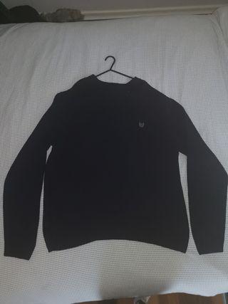 Chaps Small Logo Black Sweater