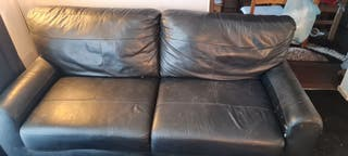 leather settee open to offers