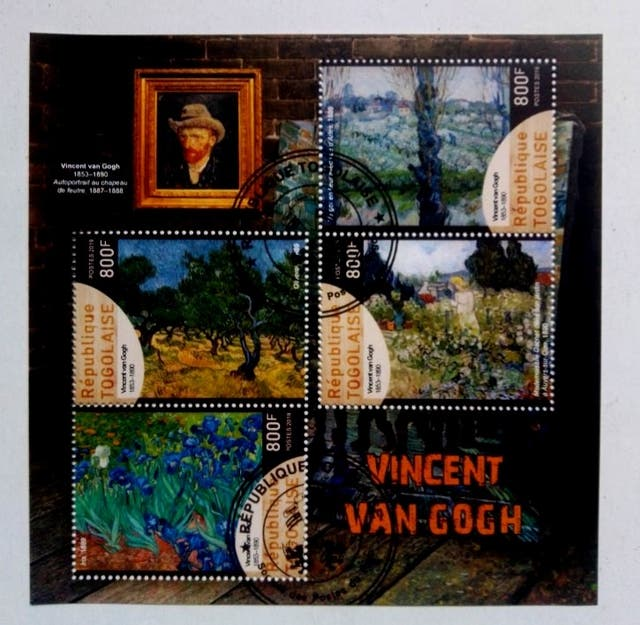 Pintor Vincent van Gogh sellos usados