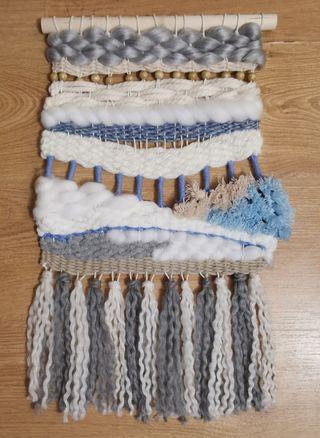 tapices decorativos/espejos con macrame