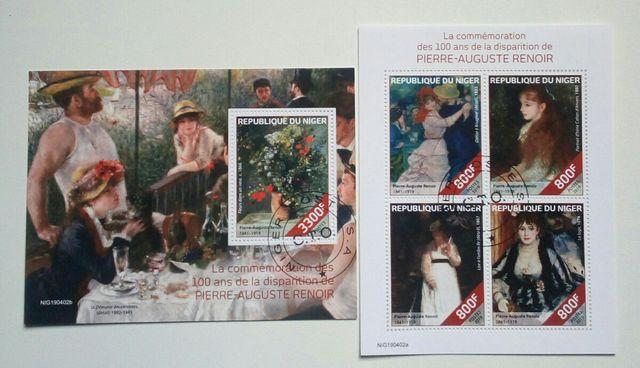 Pintor Renoir sellos usados de 2019