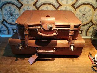 maletas cuero vintage