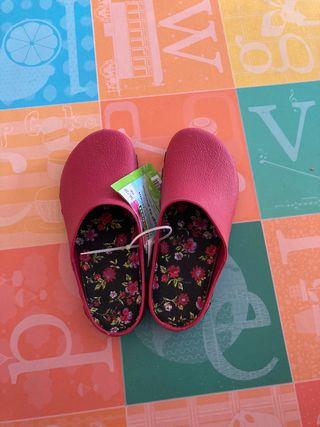 Zuecos zapatos de jardineria jardinero