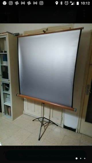 Gran pantalla de cine dispositivas